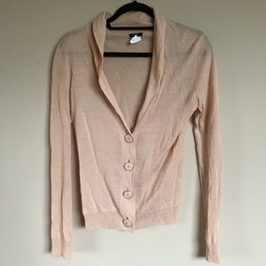 Vintage J. Crew Light Peach Cardigan Size XS